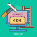 computer, error, repair, service, technology icon
