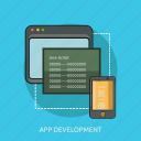 apps, coding, computer, development, java, phone, technology icon