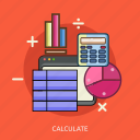 calculate, calculator, chart, computer, minus, plus, technology icon
