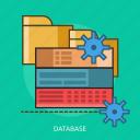computer, data, database, technology icon
