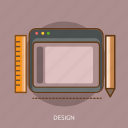 art, computer, design, digital, tablet, technology icon