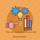 chart, development, energy, idea icon