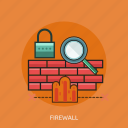 firewall, magnifier, protection, security icon