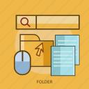 cursor, data, document, folder, mouse icon