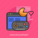 development, game, joystick, monitor icon