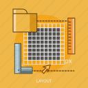 cursor, folder, layout, ruler icon