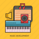 computer, development, music, speaker icon