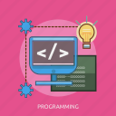 code, coding, computer, energy, idea, programming icon