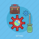 bag, process, setting icon