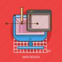 computer, pencil, technology, tool, web design icon