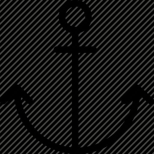 anchor, marine, sea, web and mobile ui icon