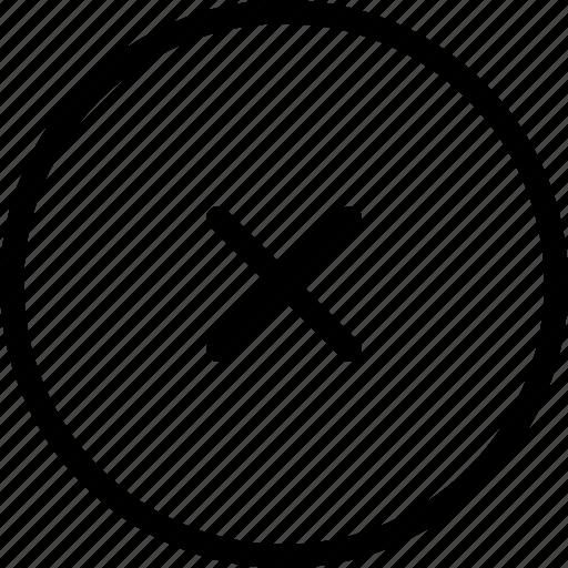 close, delete, exit, remove circle icon