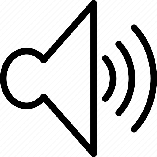 sound, sound 3, volume, web and mobile ui icon