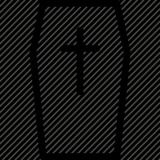 coffin, dead, death, end icon