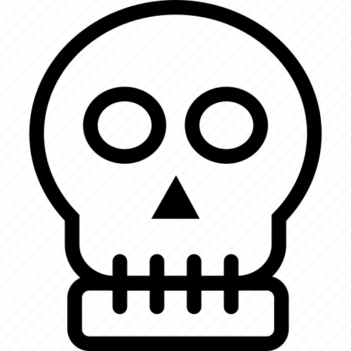 creepy, evil, halloween, skeleton, skull icon