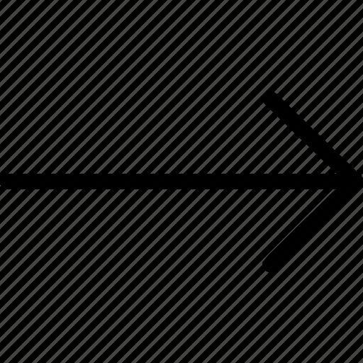 arrow, direction, long arrow right, shape icon