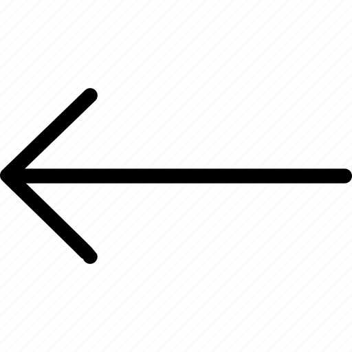 arrow, direction, left, long arrow left icon