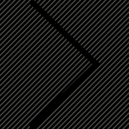 arrow, chevron, right, web and mobile ui icon