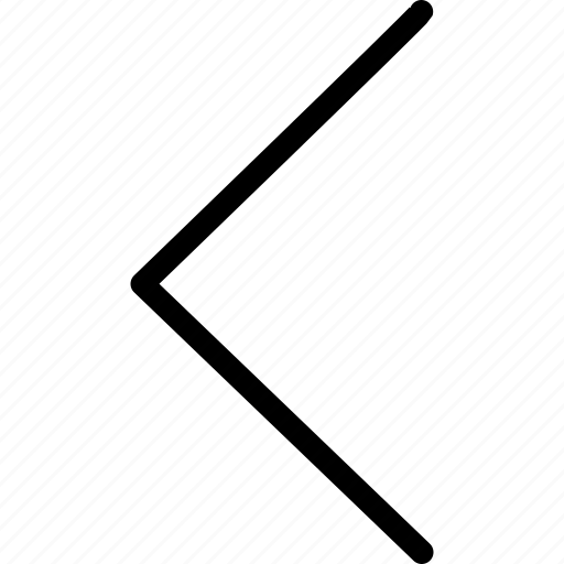 arrow, chevron, left, web and mobile ui icon