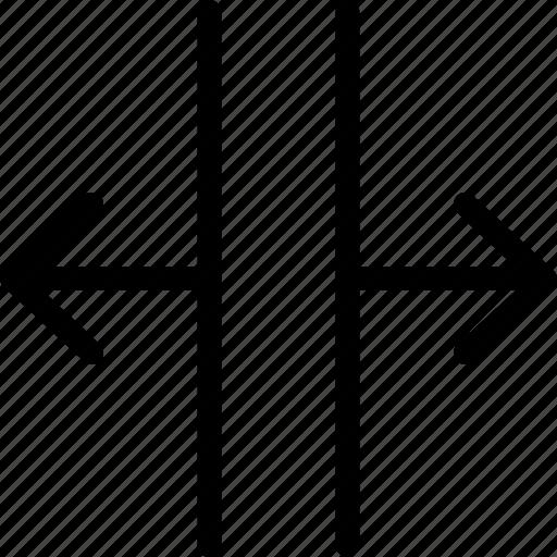 divide, pointer, split, vertical icon