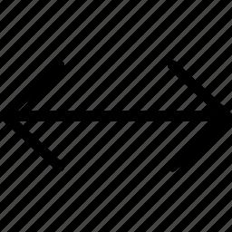 direction, re-size horizontal, resize, shrink icon