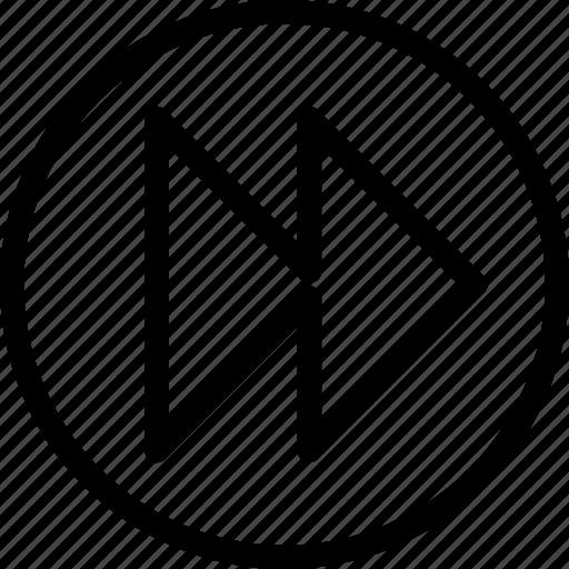 fastforward, settings, variant, web and mobile ui icon