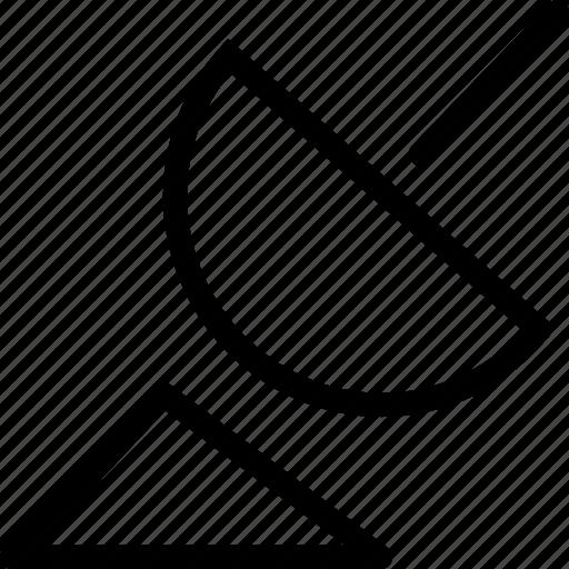 communication, dish, satellite, web and mobile ui icon