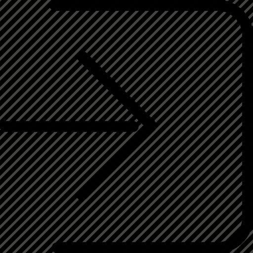 enter, log, login, sign in icon