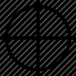 calibration mark, check, mark, target icon