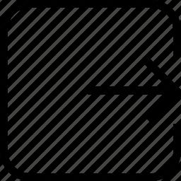 arrow, click forward, forward, next icon