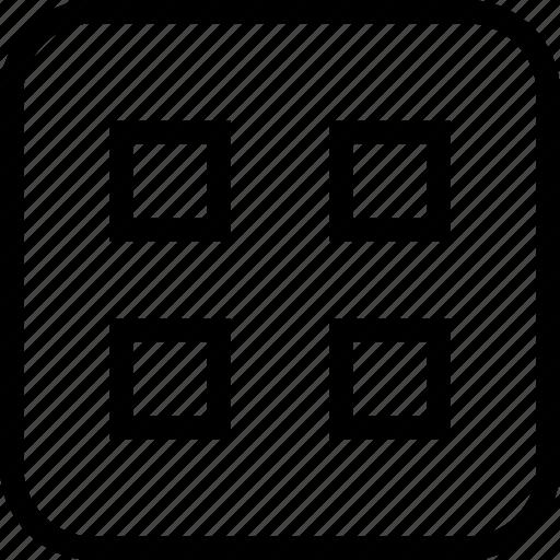 block, layout, web, window icon