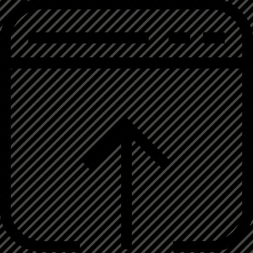 upload, web and mobile ui, website, window icon