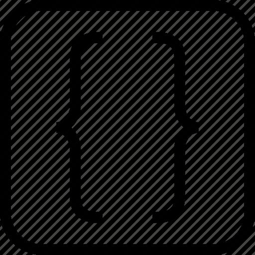 braces, code, coding, html icon