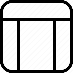 creative, grid, layout, wireframe icon
