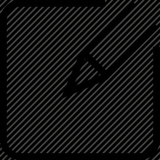 document, edit, text, write icon