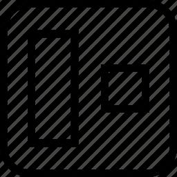 align, alignment, center, object alignment icon