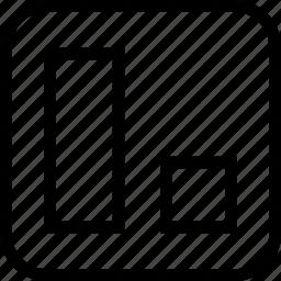 align, alignment, object alignment, right icon