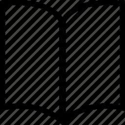 blank, book, bookmark, open icon