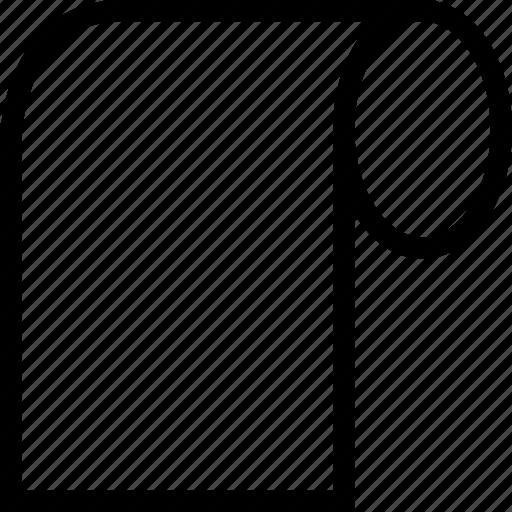 document, paper, script, scroll icon