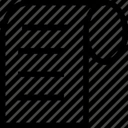 code, document, script, scroll icon