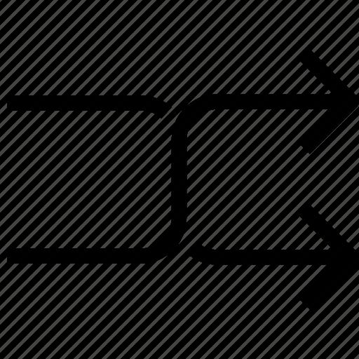 arrow, arrows, random, shuffle icon