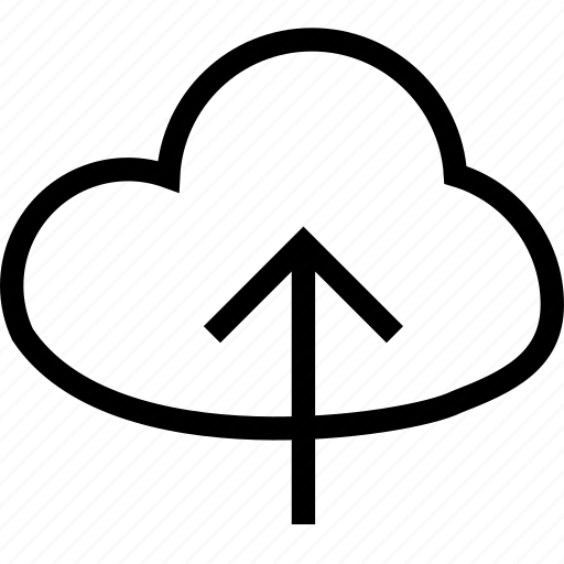 arrow, cloud upload, direction, up icon