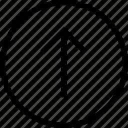 arrow circle up, circle, round, up icon