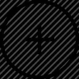add, add circle, circle, round icon