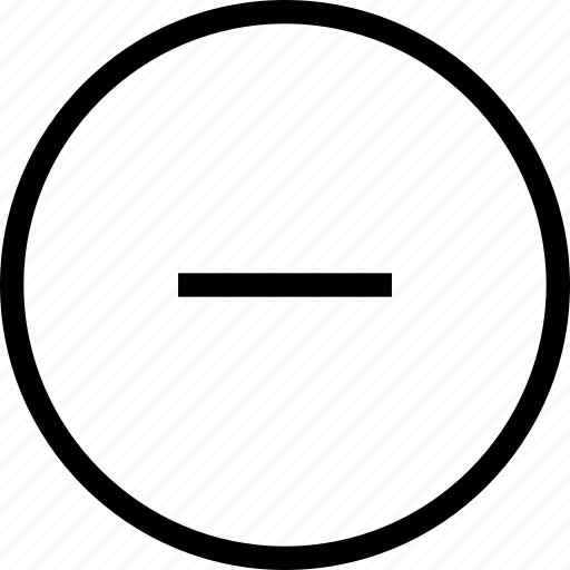 circle, minus, remove, round icon
