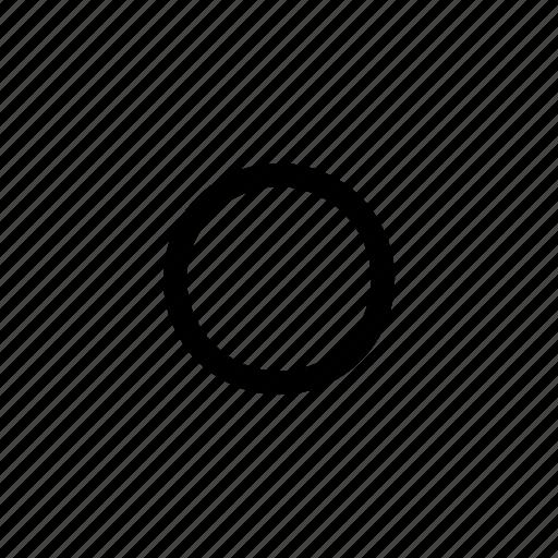 circle, radio, round, rounded icon