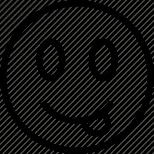 emoticon, emotion, smiley, tongue icon