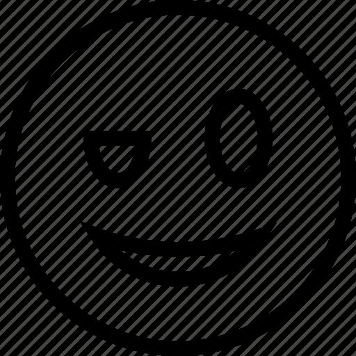 blink, emoticon, emotion, face icon