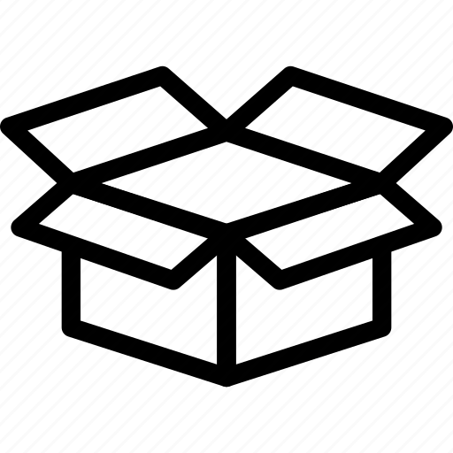 box, delivery, dropbox, open box icon