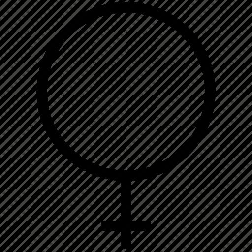 female, gender, grid, sign icon